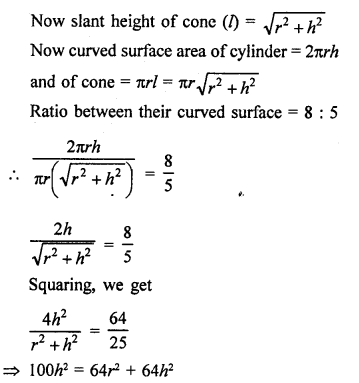 RD Sharma Class 9 Solution Chapter 20 Surface Areas and Volume of A Right Circular Cone