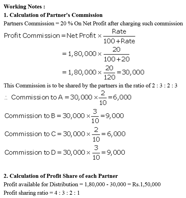 TS Grewal Accountancy Class 12 Solutions Chapter 1 Accounting for Partnership Firms - Fundamentals Q27.1