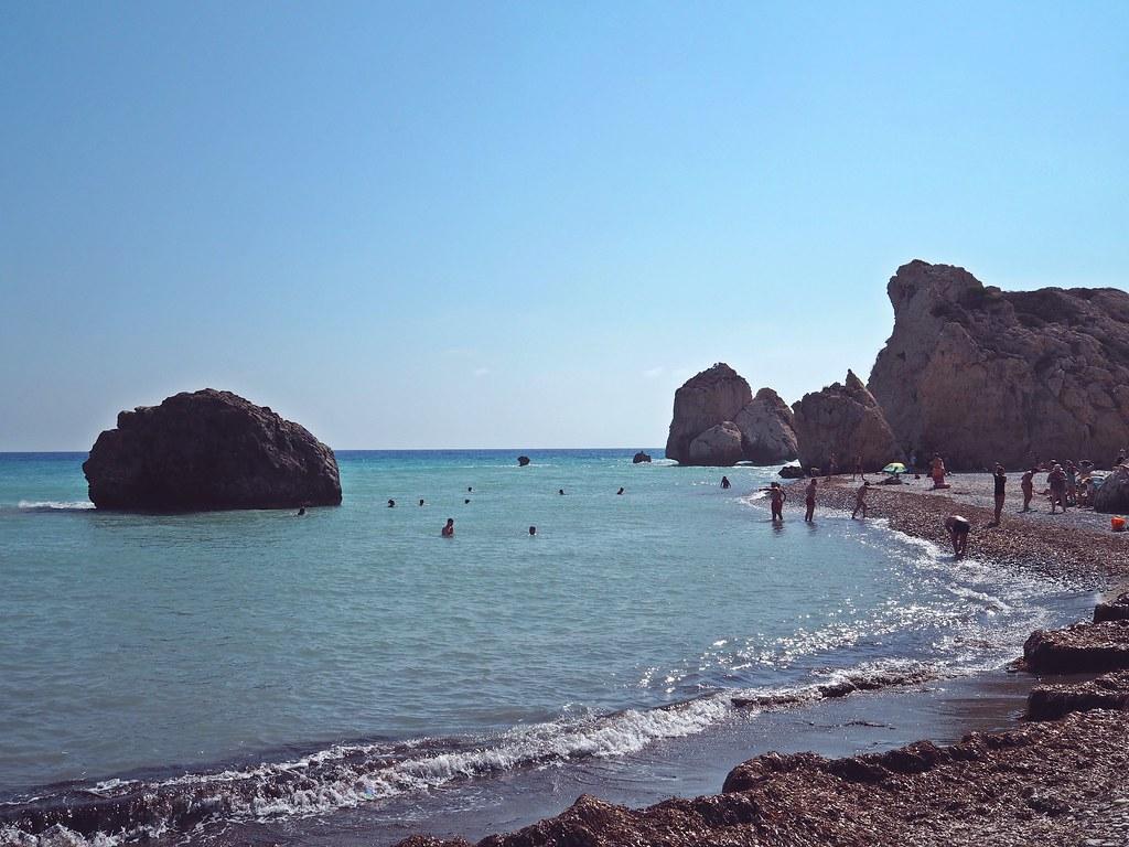 aphrodites beach paphos cyprus