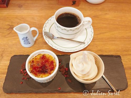 豆乳カスタードのクレームブリュレ&豆乳ソフトクリーム