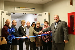 Reps. Zawistowski, Stokes and Hall attend the Ribbon Cutting for the Expanded Manufacturing Technology Programs area at Asnuntuck