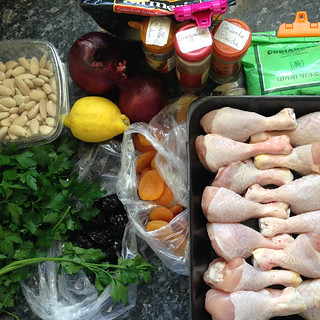 Tajine de poulets aux abricots3