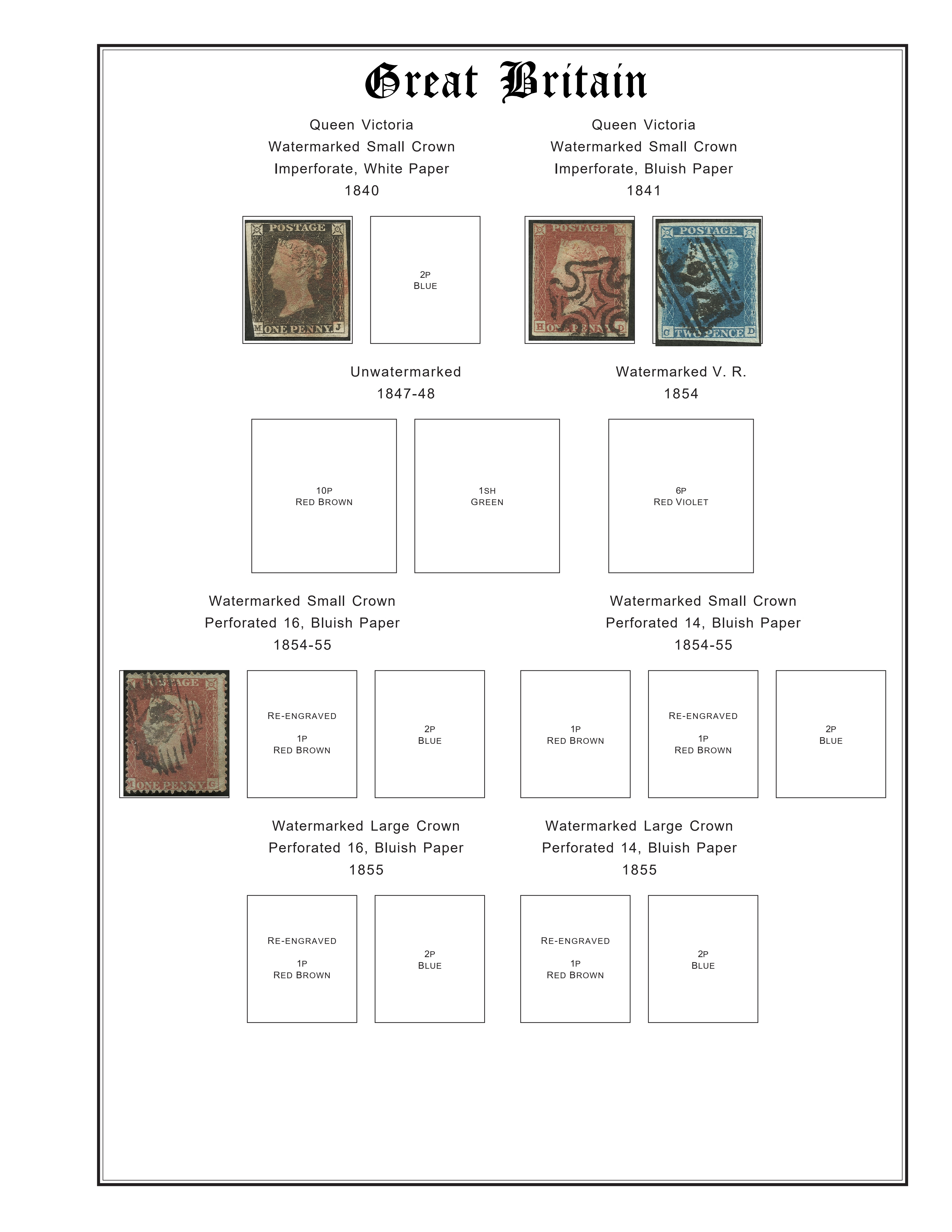 Examples of my slightly-modified, digital-only Steiner pages using scanned stamps from my collection. Scans by Mark Joseph Jochim, September 2018.