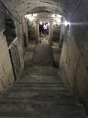 The Catacombs of Kom Ash Shuqqafa, Carmous, Alexandria, Egypt.