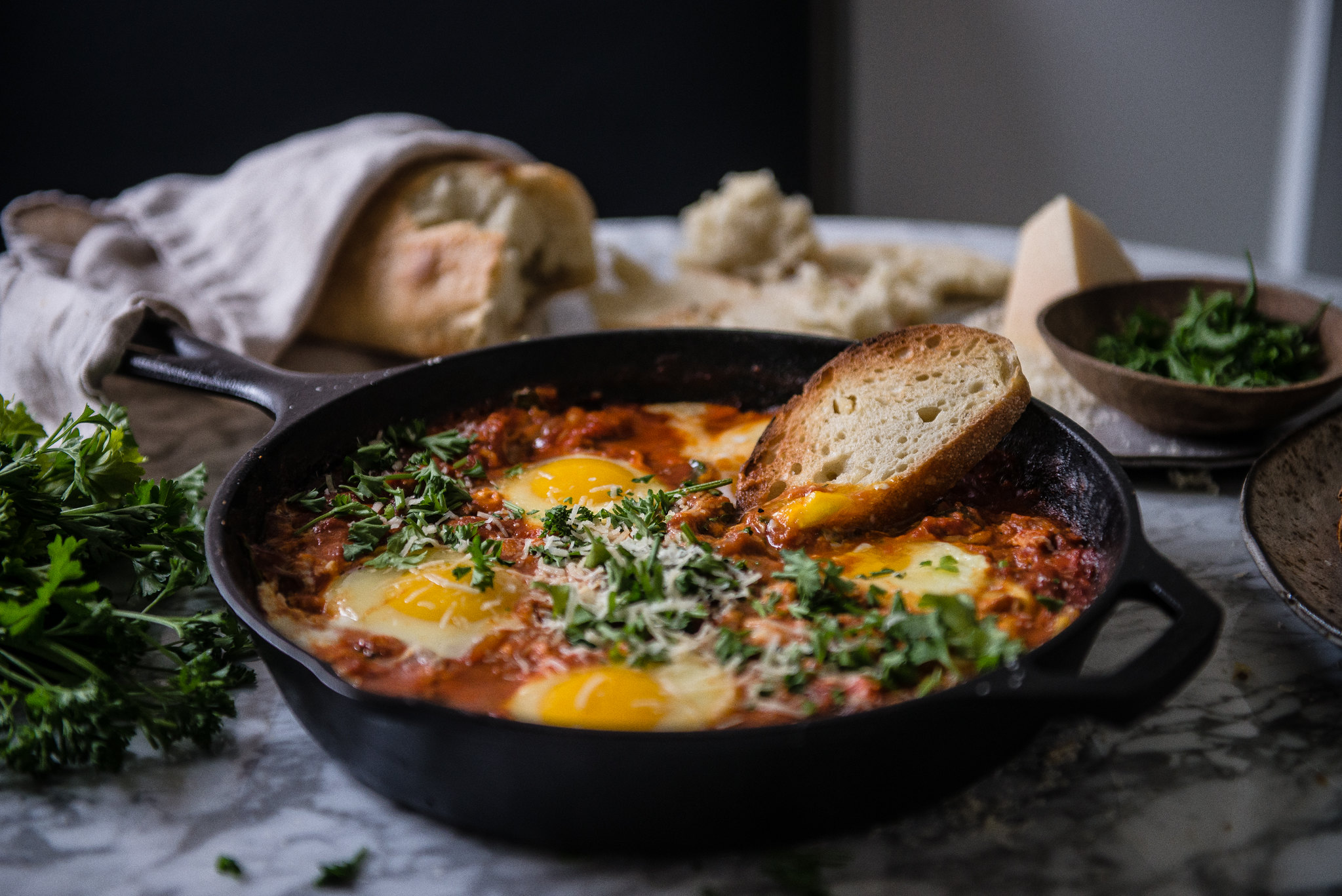 gochujang eggs in purgatory, from a common table