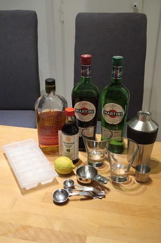 Manhattan Cocktail (Zutaten & Zubehör)
