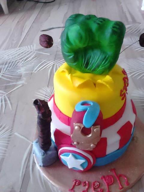 Hulk Smash Cake by Booti Delicious Bakery