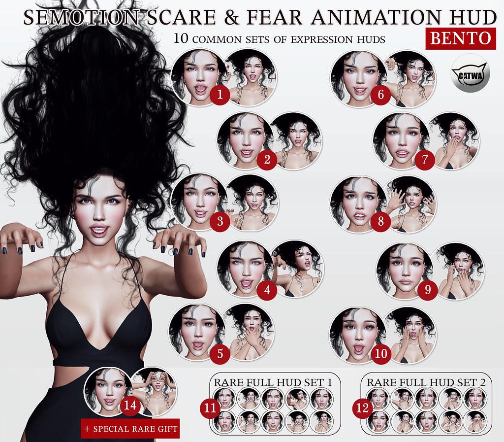 SEmotion Scare & Fear HUD @ GachaLand - TeleportHub.com Live!