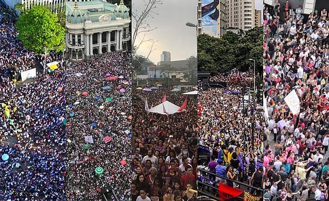 Mujeres lideran actos contra Bolsonaro en Brasil y en el mundo