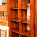 E230 solid wood 8 drawer shelf unit