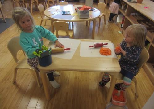 orange playdough