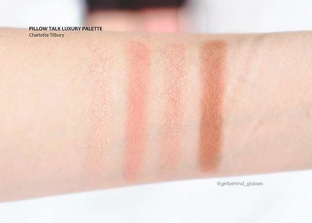 Charlotte Tilbury Luxury Palette Pillow Talk swatches