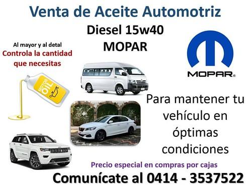 ¡ESTAMOS DE PROMOCIÓN! 《APROVECHA》  #Aceite #Bqto #Lubricante #Motor #Diesel #Mopar #Barquisimeto