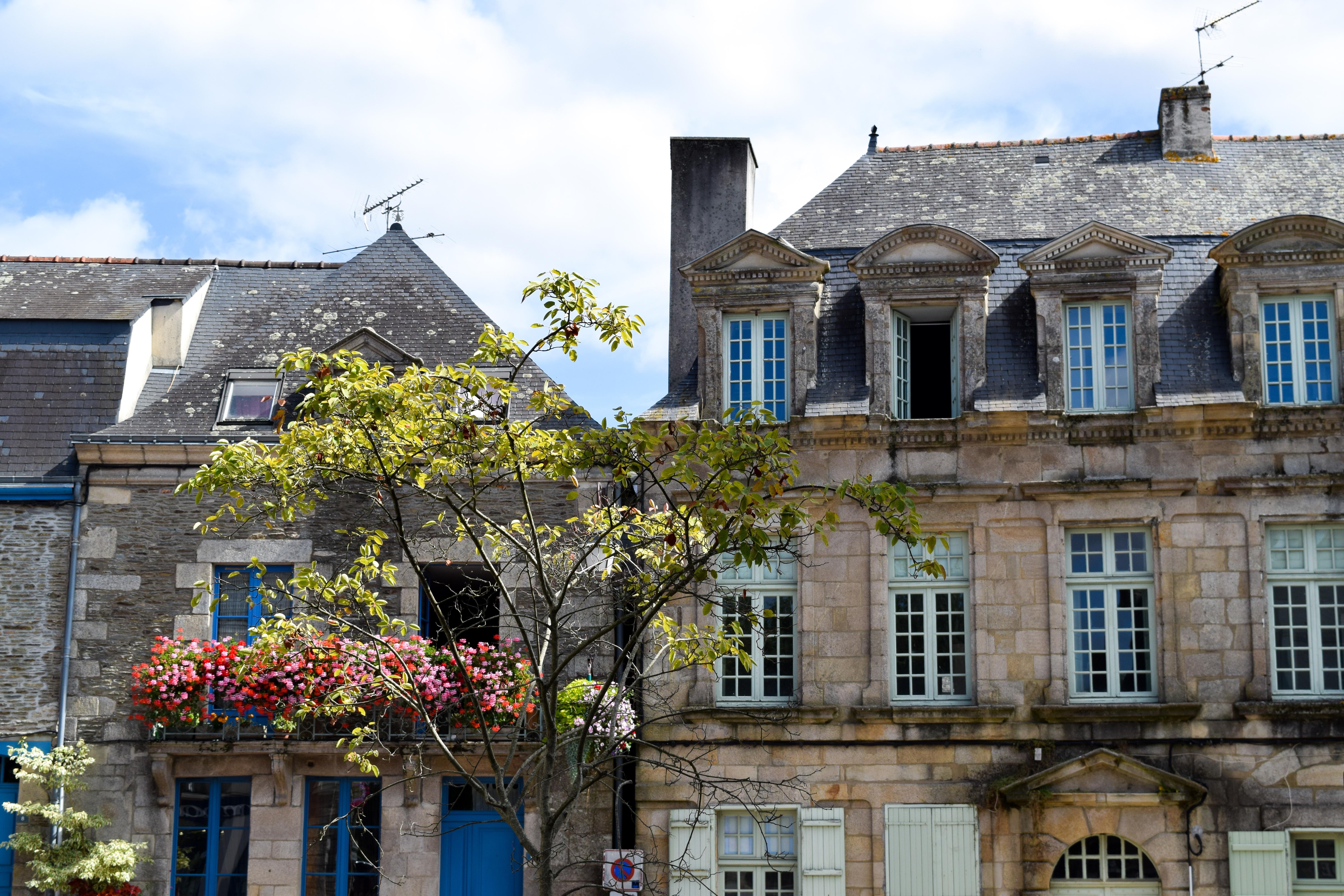 Rooftops in Josselin, Brittany