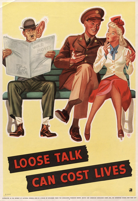 Loose talk can cost lives (1942) - R. John Holmgren (1897-1963)