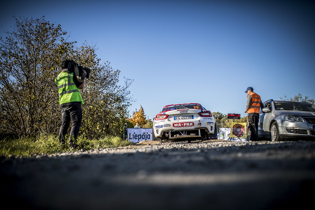 19 TEMPESTINI Simone, (ROU), Sergiu ITU, (ROU), Fiat 124 Abarth, Action during the 2018 European Rally Championship ERC Liepaja rally,  from october 12 to 14, at Liepaja, Lettonie - Photo Gregory Lenormand / DPPI