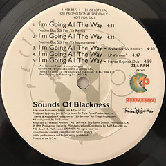 SOUNDS OF BLACKNESS:I'M GOING ALL THE WAY(LABEL SIDE-A)