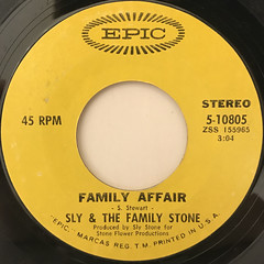SLY & THE FA,ILY STONE:FAMILY AFFAIR(LABEL SIDE-A)