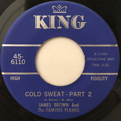 JAMES BROWN AND THE FAMOUS FLAMES:COLD SWEAT(LABEL SIDE-B)