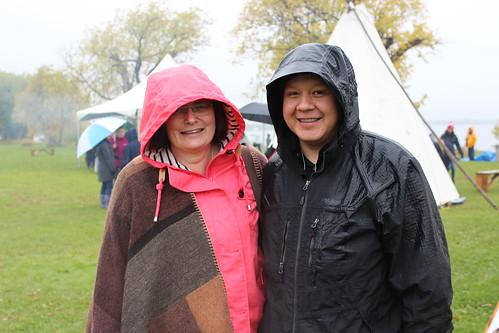 <p>Trent University's Clare Mooney and Bobby Henry</p>