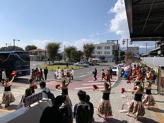 今日のトランスイート四季島 - 初のハワイアン フラでの歓迎