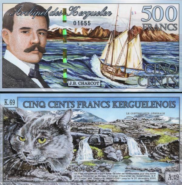 500 Frankov ostrovy Kergueleny 2011, polymer