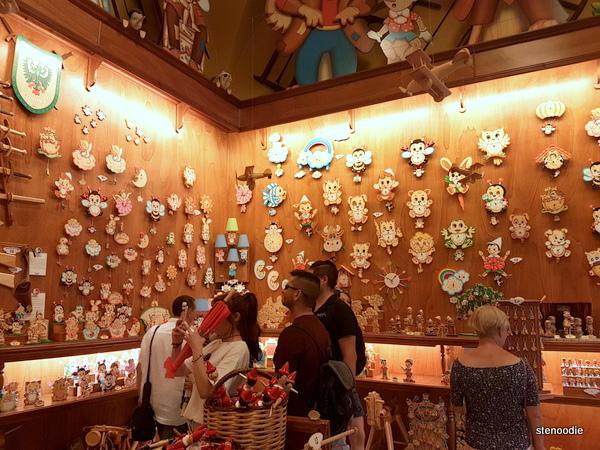 Pinocchio's shop Rome