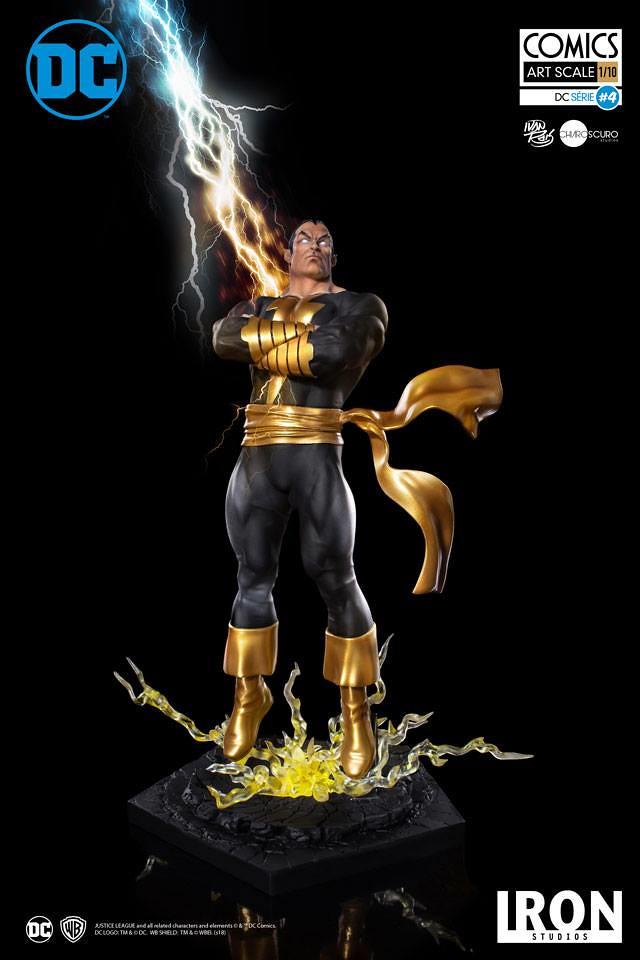 歡樂英雄「沙贊」的宿敵!! Iron Studios DC Comics【黑亞當】Black Adam 1/10 比例全身雕像作品