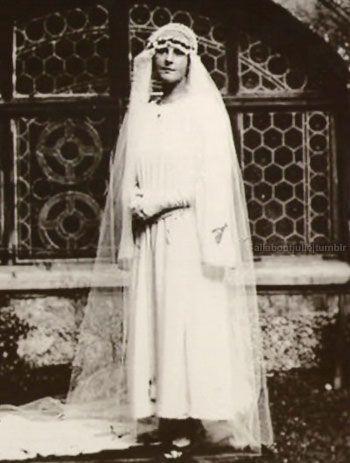 Мария фон Трапп в день свадьбы