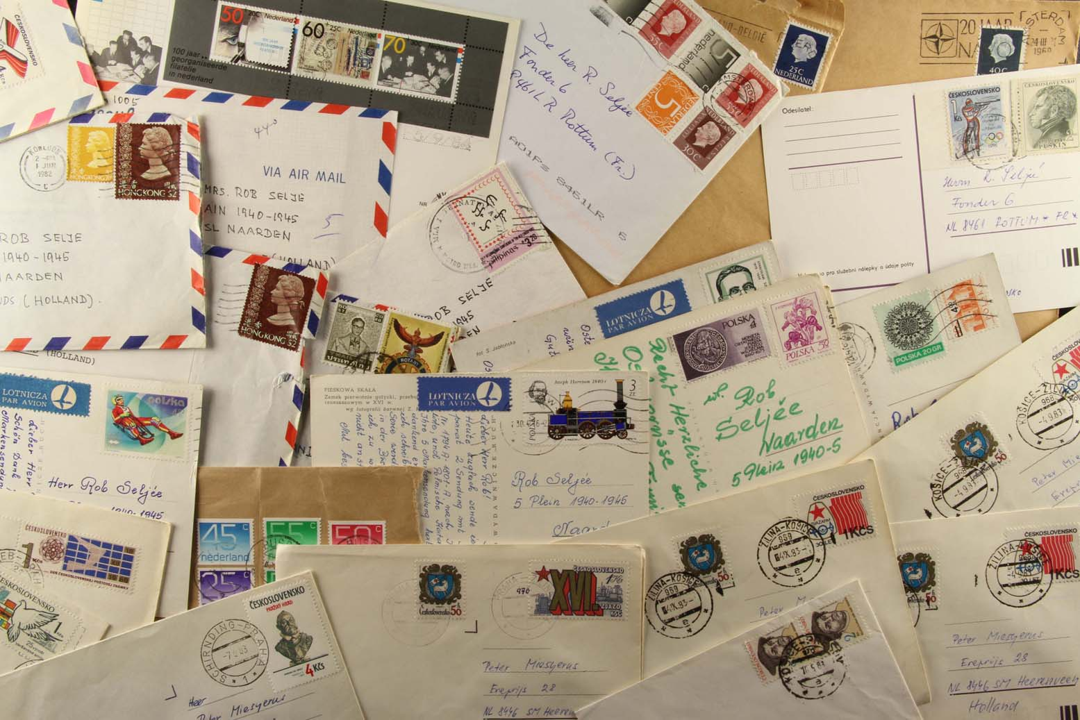 The easiest (and least expensive) way to start a stamp collection is to save the mail that arrives in your own home. Ask your friends, family members, co-workers, teachers, etc. to save their mail for you, too.