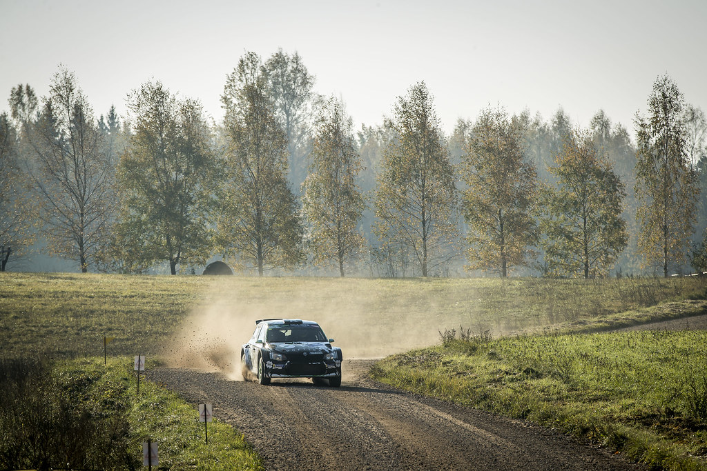 06 AHLIN Fredrik, (SWE), Joakim SJOBERG, (SWE), Skoda Fabia R5, Action during the 2018 European Rally Championship ERC Liepaja rally,  from october 12 to 14, at Liepaja, Lettonie - Photo Gregory Lenormand / DPPI