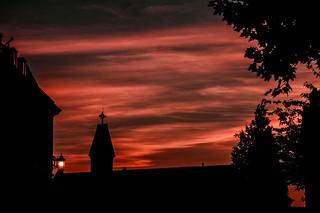 Sunset & church