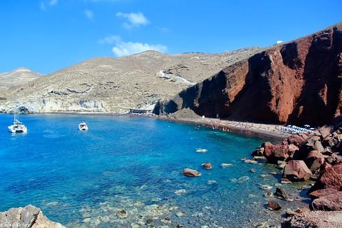Red Beach, Akrotiri, Santorini.