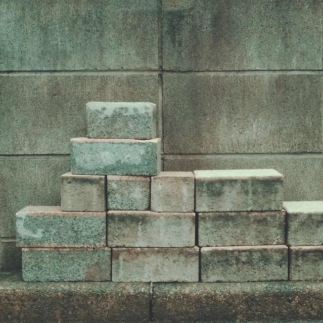 Solid cement blocks