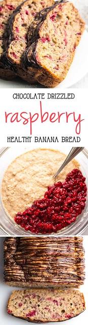 Easy Healthy Breakfast Ideas : Healthy Chocolate Drizzled Raspberry Banana Bread -- this easy breakfast recipe ...