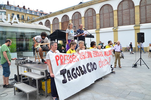 Jagoba Codoren aldeko protesta