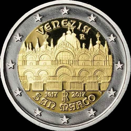 2 Euro Taliansko 2017, Benátky - San Marco