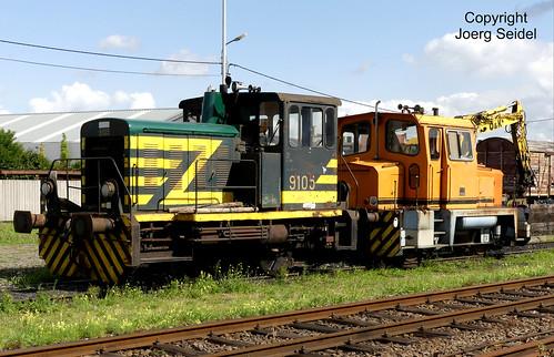 BE-9200 Baasrode Stoomtrein Dendermonde-Puurs SNCB 9105 im August 2018