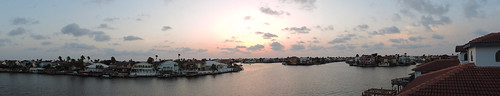 corpuschristitx texas usa sunset evening sky eveningsky water sea bay ocean building buildings house housing coast coastline clouds dusk city skyline pano panorama balcony boating padreisland boats