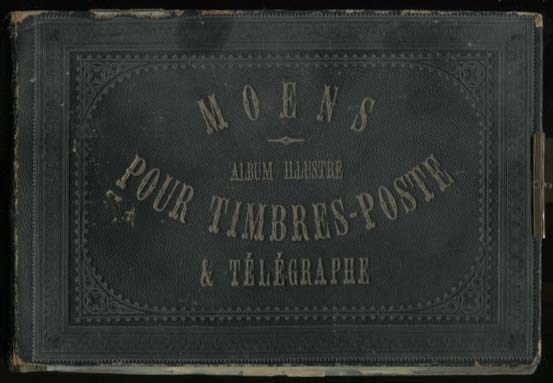 Front cover of Moens stamp album