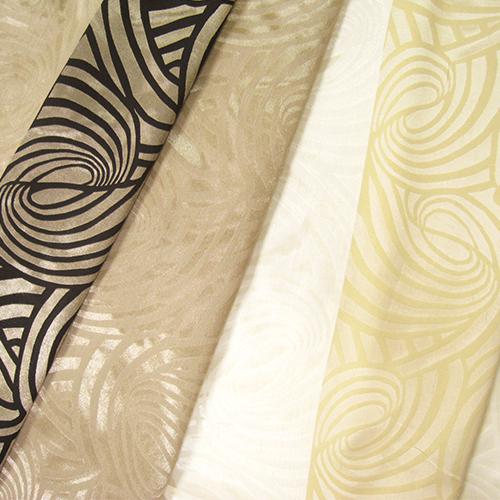 迴漩渦紋 雙色拼接 變化紋路 緹花無接縫窗簾布 DA2790001