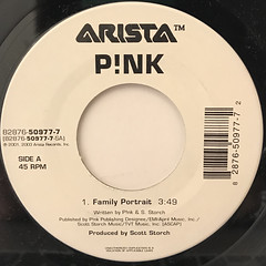 P!NK:FAMILY POTRAIT(LABEL SIDE-A)