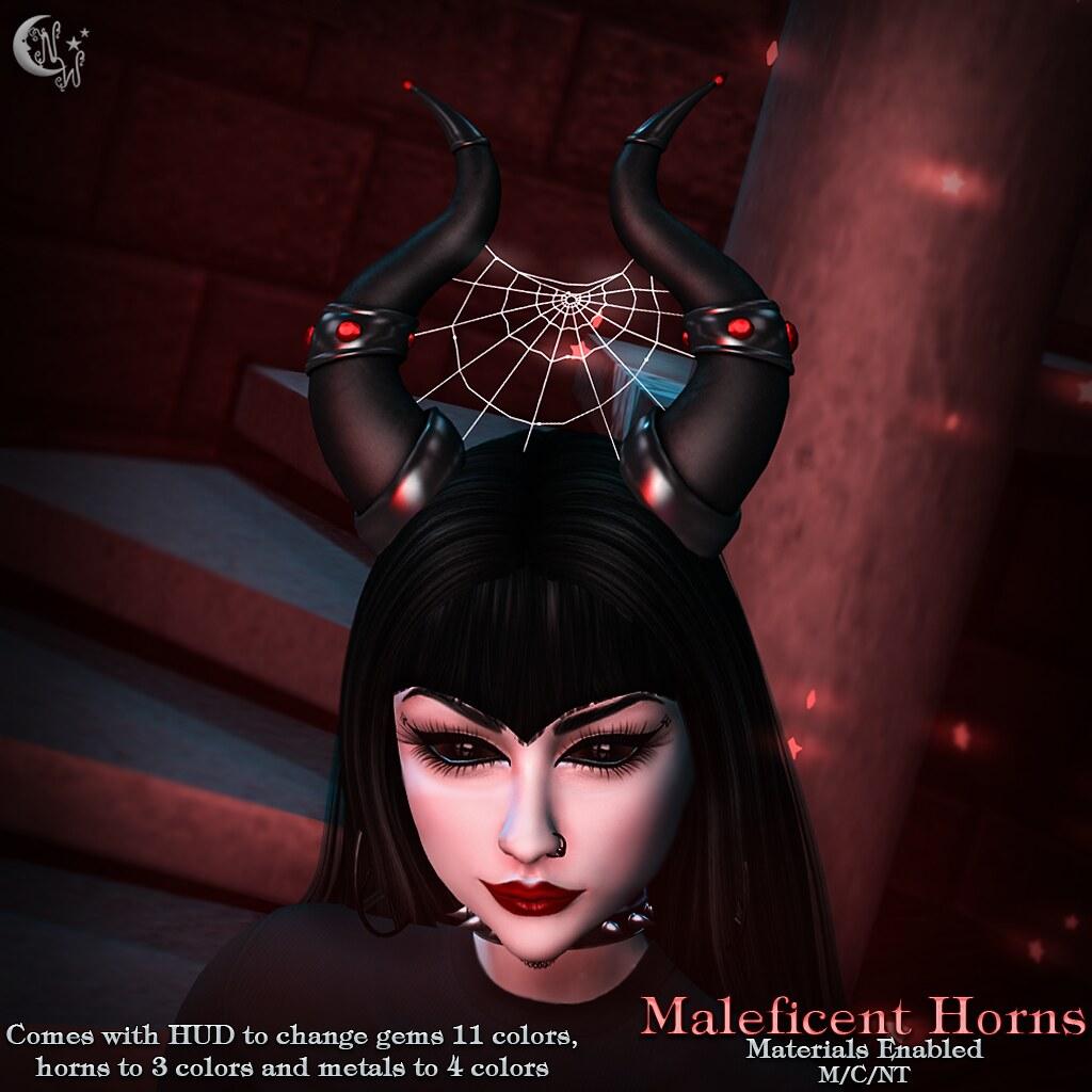 *NW* Maleficent Horns - TeleportHub.com Live!