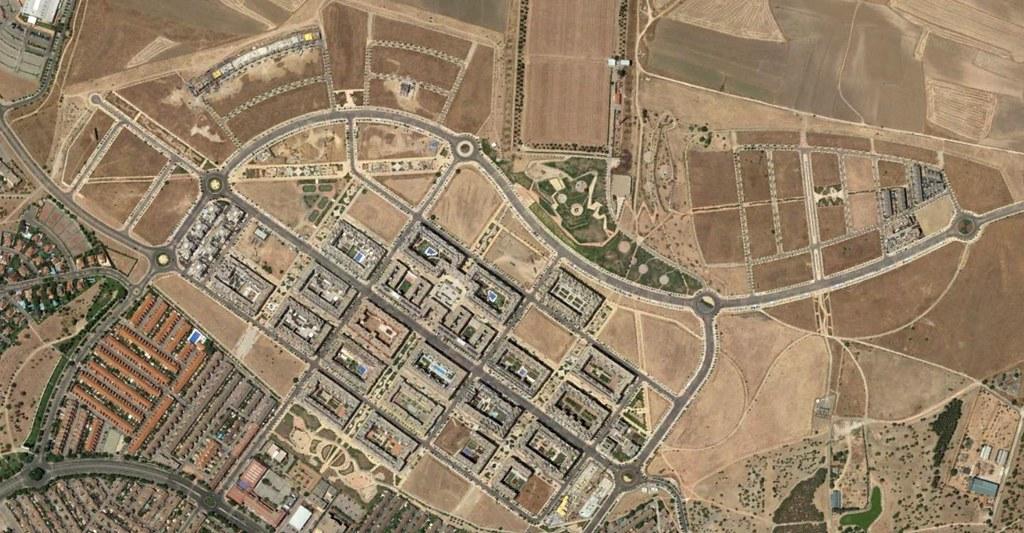 getafe oeste, madrid, el sector poch, después, urbanismo, planeamiento, urbano, desastre, urbanístico, construcción, rotondas, carretera