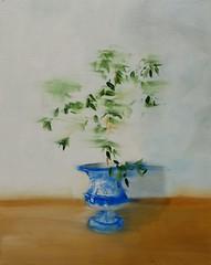 Inertie végétale - oil painting -