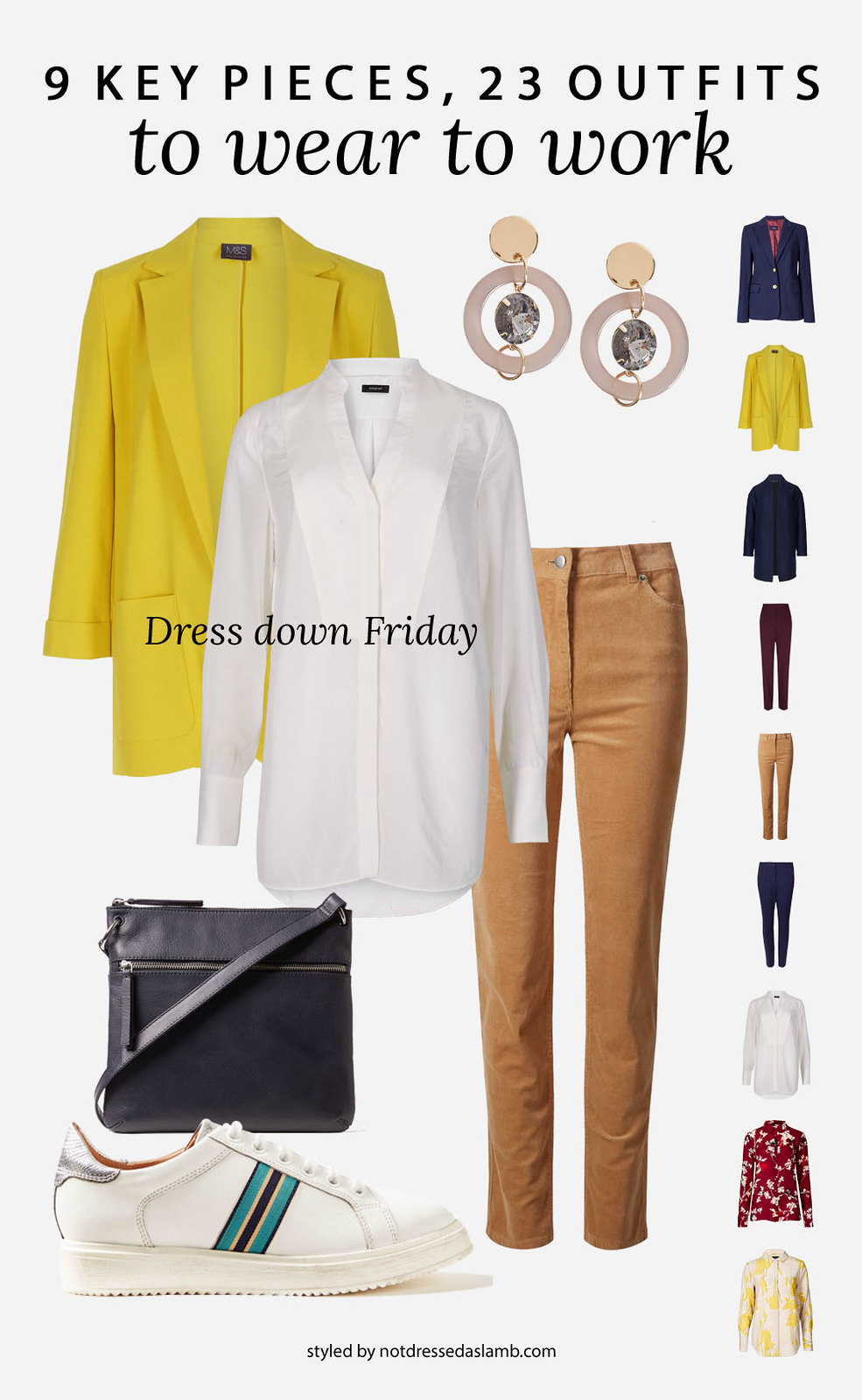 23 Workwear Outfits From 9 Key Pieces Perfect for a Creative Office: Dress down Friday | Not Dressed As Lamb, over 40 style