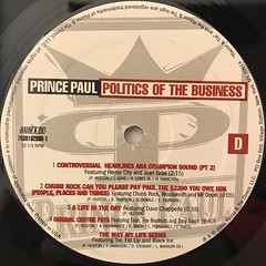 PRINCE PAUL:POLITICS OF THE BUSINESS(LABEL SIDE-D)