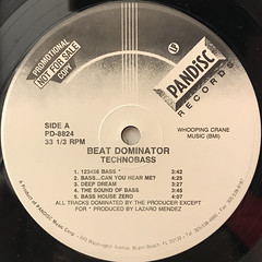 BEAT DOMINATOR:TECHNO-BASS(LABEL SIDE-A)