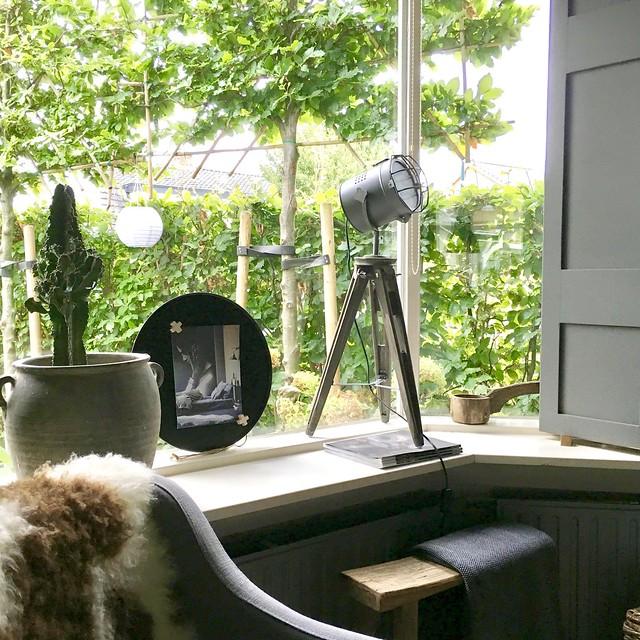vensterbank stylen landelijke stijl