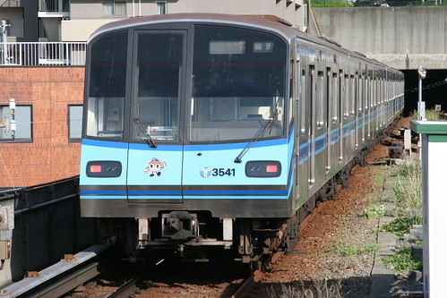Yokohama Municipal Subway 3000S series in Kaminagaya.Sta, Yokohama, Kanagawa, Japan / May 19, 2018